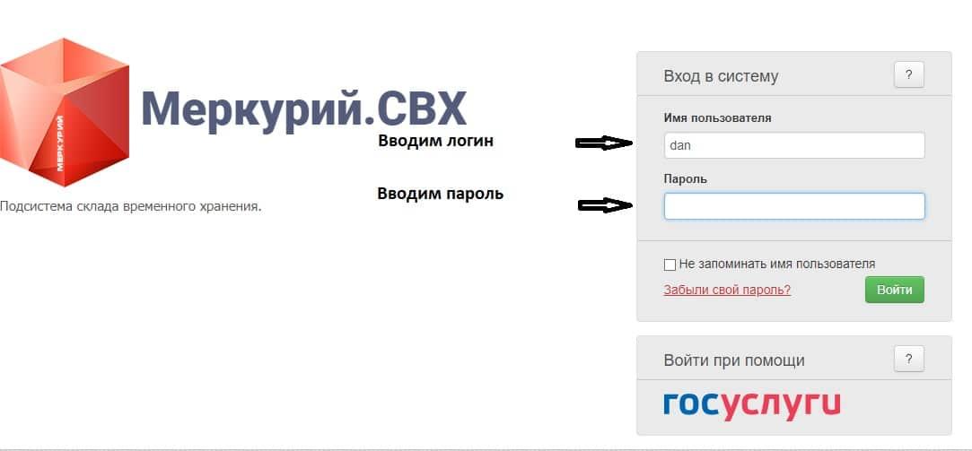 Личный кабинет на mercury vetrf ru